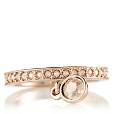 Aurora Swarovski Crystal Charm Drop Full Eternity Ring