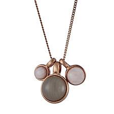 Pilgrim Semi Precious Stone Charm 70cm Necklace