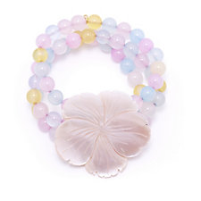 Lola Rose Mother of Pearl Flower Bracelet