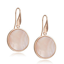 Bronzo Italia Celebration Collection, Pink Mother of Pearl Drop Earrings