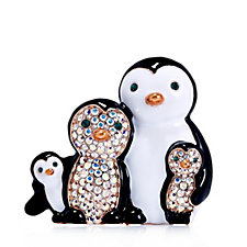 Butler & Wilson Penguin Family Brooch