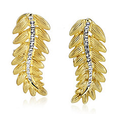 304703 - Roberto by RFM Cortona Crystal Drop Leaf Earrings