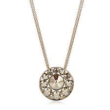 Aurora Swarovski Crystal Circular Pendant 52cm Necklace