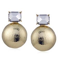 Frank Usher Crystal Round Bulb Stud Earrings