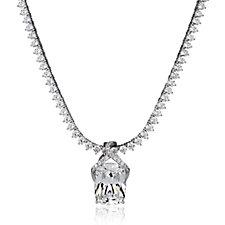 Diamonique by Tova 26ct tw Pendant Tennis 45cm Necklace Sterling Silver