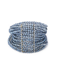 Frank Usher Crystal Ombre Stretch Stacking Bracelet