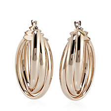 Bronzo Italia Triple Oval Hoop Earrings