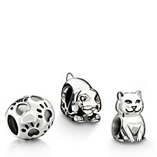 Chamilia Animal Appreciation Set of 3 Charms Sterling Silver