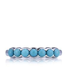 Sleeping Beauty Turquoise Band Ring Sterling Silver