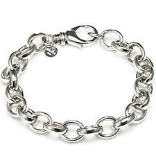 Bianca Platinum Plated Rolo Link Bracelet Sterling Silver