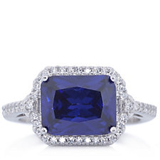 314004 - Diamonique 5.2ct tw East West Ring Sterling Silver
