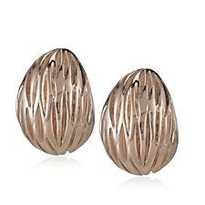 Bronzo Italia Textured Button Drop Earrings