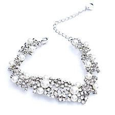 loveRocks Crystal Champagne Bubble & Faux Pearl Bracelet