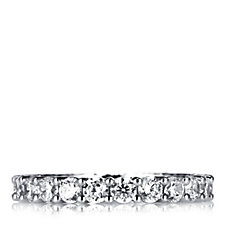 Diamonique 2.2ct tw Full Eternity Ring Sterling Silver