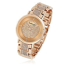 Loverocks Pave Crystal Bracelet Strap Watch