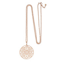 Rosalie Lucina Papillon 85cm Disc Necklace Stainless Steel