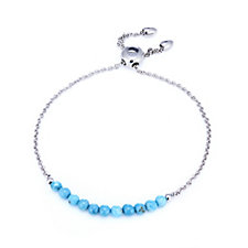 Sleeping Beauty Turquoise Friendship Bracelet Sterling Silver