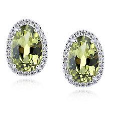Diamonique 6ct tw Simulated Kollur Green Simulated Diamond Earrings