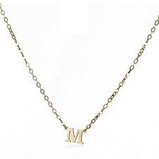 9ct Gold Initial Pendant 45cm Necklace