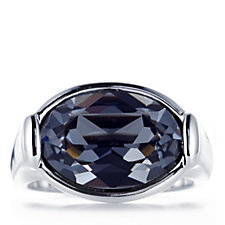 305206 - Aurora Swarovski Crystal North West Oval Cut Ring