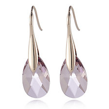Aurora Swarovski Crystal Faceted Pear Cut Drop Earrings