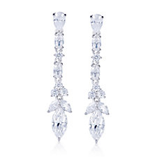 Michelle Mone for Diamonique 5ct tw Drop Earrings Sterling Silver