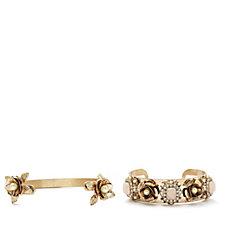 Danielle Nicole Disney Beauty and the Beast Cuff Bracelet Set