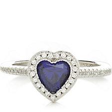 Diamonique 1.7ct tw Simulated Tanzanite Ring Sterling Silver