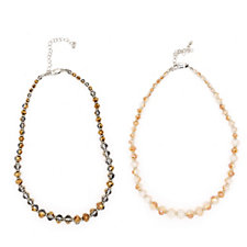 Buckley London Set of Two Bead 41cm Necklaces