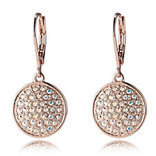 Aurora Swarovski Crystal Shimmer Pave Lever Back Earrings