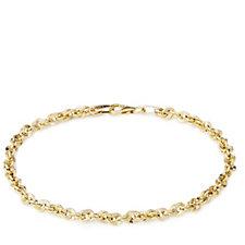 9ct Gold Polished Diamond Cut Bracelet