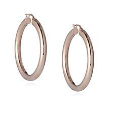 Bronzo Italia 4mm Round Hoop Earrings
