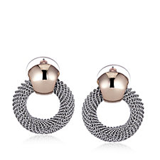 Nour Mesh Circle Drop Earrings