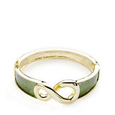 Roberto by RFM Breast Cancer Care Infinity Bangle with Enameled Accent