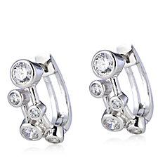 306308 - Michelle Mone for Diamonique 2ct tw Bezel Earrings Sterling Silver