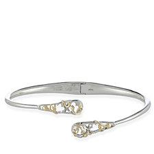306408 - Clogau 9ct Gold Sterling Silver Tudor Court Bangle