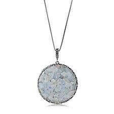 Or-Paz Roman Glass 61cm Pendant Sterling Silver