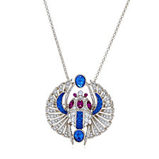 Princess Grace Collection Scorpion Brooch Pendant 55cm Necklace