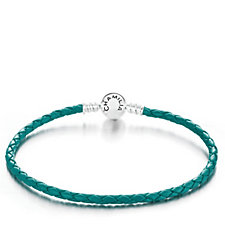 Chamilia Braided Leather Bracelet Sterling Silver