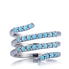 Turquoise Spiral Ring Sterling Silver