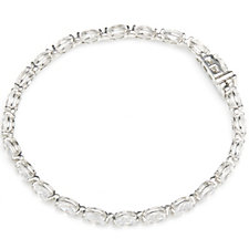 Diamonique 14ct tw Oval Cut Tennis 18cm Bracelet Sterling Silver