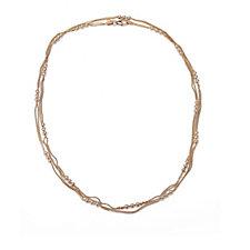 Bronzo Italia Multistrand Nugget 100cm Necklace