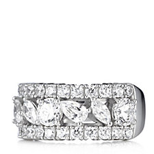 306309 - Michelle Mone for Diamonique 2.5ct tw Half Eternity Ring Sterling Silver