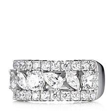 Michelle Mone for Diamonique 2.5ct tw Half Eternity Ring Sterling Silver