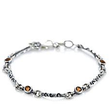 Or-Paz Gemstone Station 18cm Bracelet w/ 2cm Extender Sterling Silver