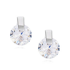 Diamonique 1.5ct tw Stud Earrings Sterling Silver