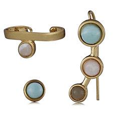 Pilgrim 3 in 1 Stone Earring Set