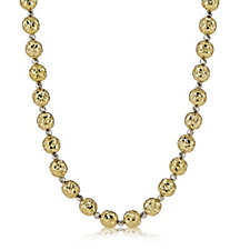 9ct Gold Faceted Bead 45cm Necklace with 3cm Extender