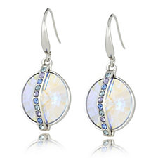 Crystal Glamour with Swarovski Crystals Iridescent Drop Earrings
