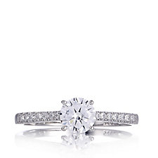 Diamonique 1ct tw Solitaire Ring Sterling Silver